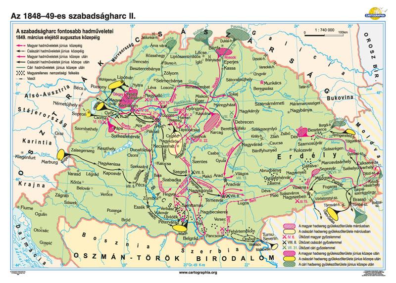 magyarország 1848 térkép Cartographia Tankönyvkiadó Kft. magyarország 1848 térkép