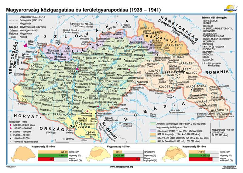magyarország térkép 1941 Cartographia Tankönyvkiadó Kft. magyarország térkép 1941